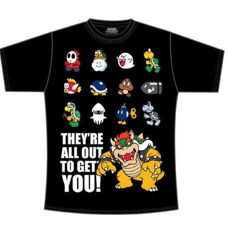 Super Mario Bros Camiseta They´re All Out To Get You T:M