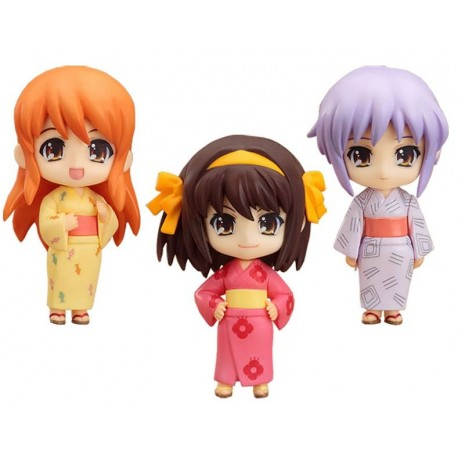 The Melancholy of Haruhi Suzumiya Set de 3 Figuras Nendoroid Pet