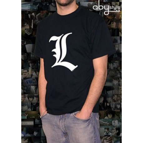 Camiseta Logotipo L Death Note Talla:M
