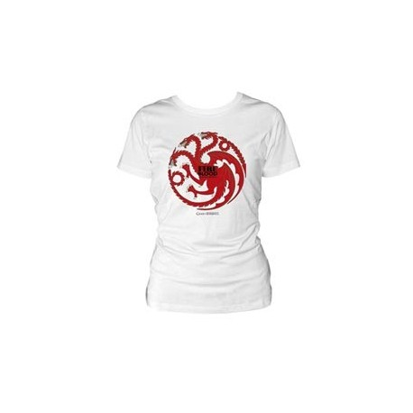 (NEX) TARGARYEN CAMISETA BLANCA CHICA T-S GAME OF THRONES
