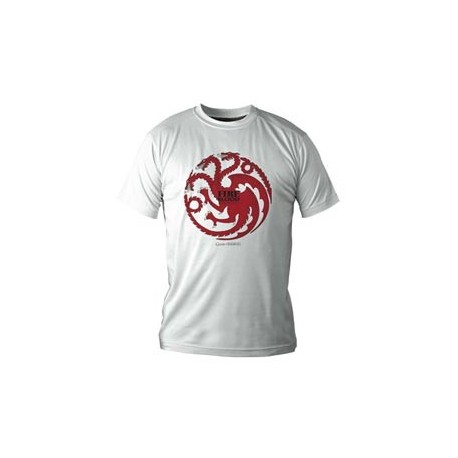 (NEX) TARGARYEN CAMISETA BLANCA CHICO T-L GAME OF THRONES