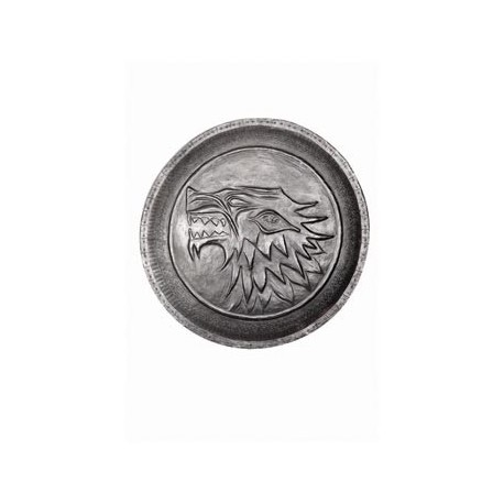 ESCUDO HUARGO PIN DE ZINC DE LA CASA STARK 5 CM GAME OF THRONES