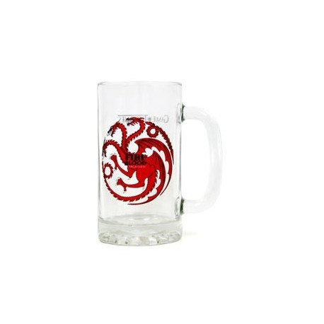 FIRE AND BLOOD TARGARYEN JARRA CERVEZA CRISTAL GAME OF THRONES