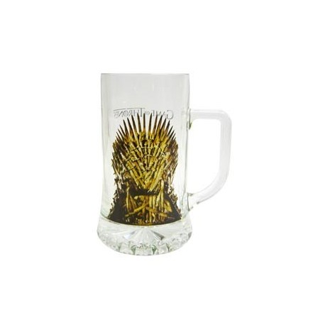 TRONO DE HIERRO JARRA CERVEZA CRISTAL GAME OF THRONES