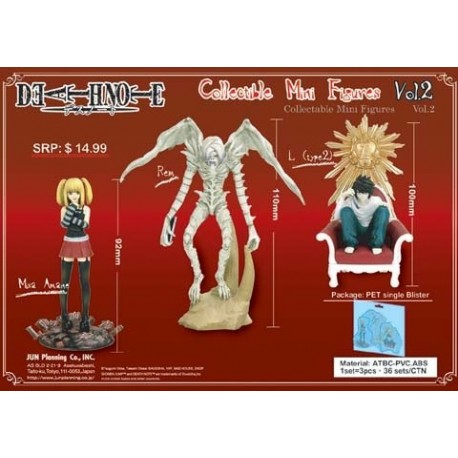 Death Note Pack de 3 figuras Vol:2