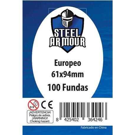 100 FUNDAS TAMAÑO EUROPEO (61X94MM)