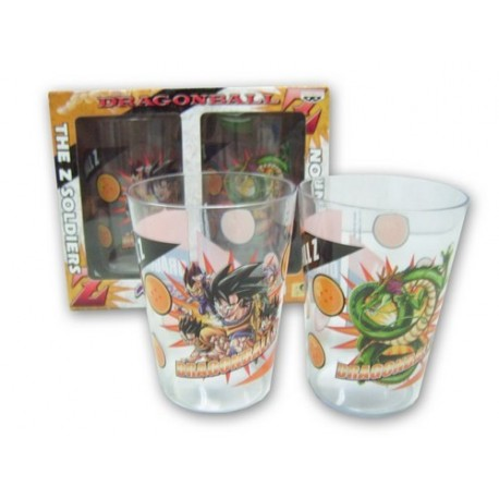 Dragon Ball - Set de 2 vasos Soldiers y Shenron