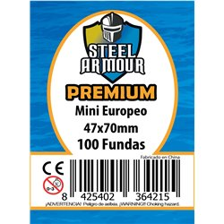 100 FUNDAS TAMAÑO MINI EUROPEO PREMIUM (47X70MM)