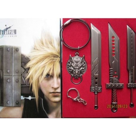 Final Fantasy - Pack 3 Espadas y Colgante Cloud