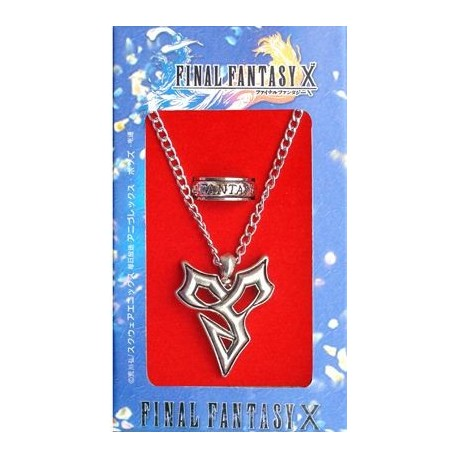 Final Fantasy - Pack Colgante + Anillo FF X