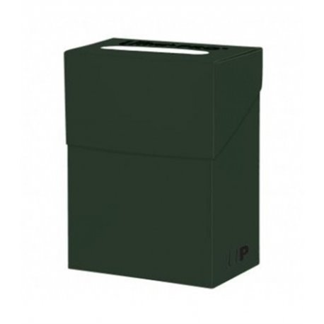Solid Deck Box Ultra Pro. Para 85 Cartas. Color Forest Green