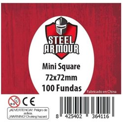 100 FUNDAS CUADRADAS SQUARE MINI (72X72MM)
