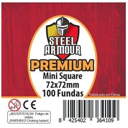 100 FUNDAS CUADRADAS SQUARE MINI PREMIUM (72X72MM)