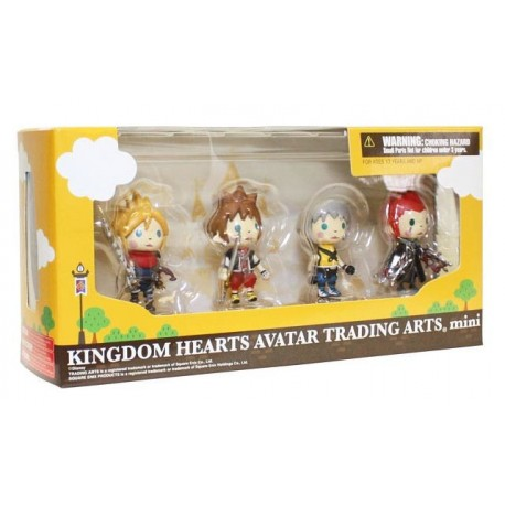 Kingdom Hearts Trading Arts Volume 1 Pack 4 Figuras 5 cm