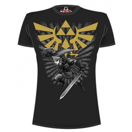 Legend of Zelda Camiseta Zelda Warrior negro Talla L