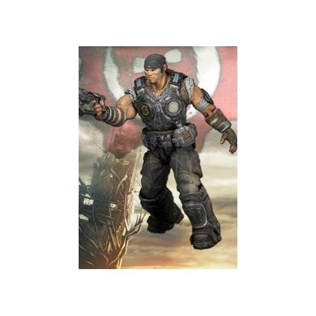 "MARCUS FIG 10 CM ESCALA 3/4"" GEARS OF WAR 3 SERIE 1"