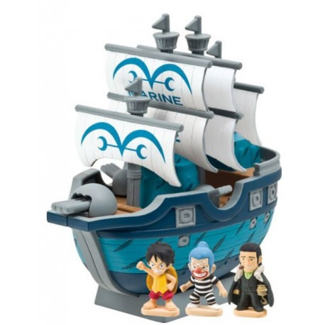 One Piece Hucha con Figuras Navy Battleship 11 cm